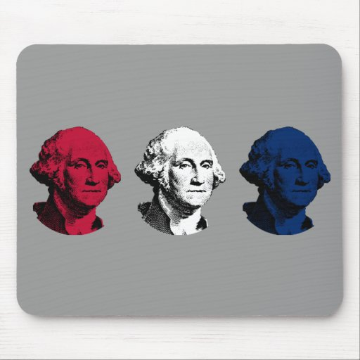 Red, White, and Blue President Washington Mouse Pad