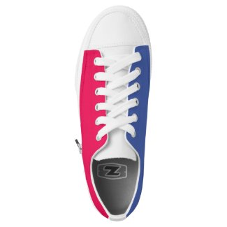 Red White And Blue Printed Shoes
