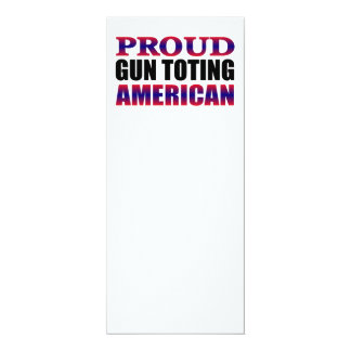 Red White and Blue Proud American Gun Owner Card