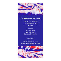 red white and blue rack card