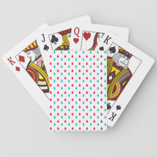 Red White and Blue Raindrop Design Playing Cards