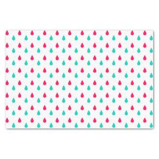 Red, White, and Blue Raindrops Design Tissue Paper