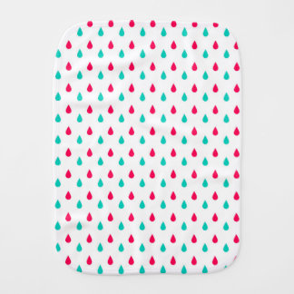 Red, White, and Blue Raindrops Design Burp Cloths