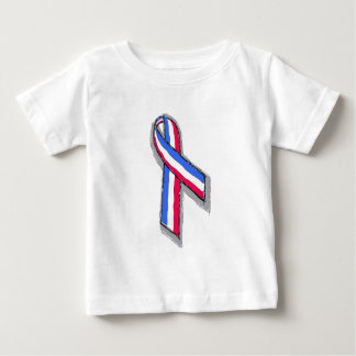 Red White and Blue Ribbon. Baby T-Shirt