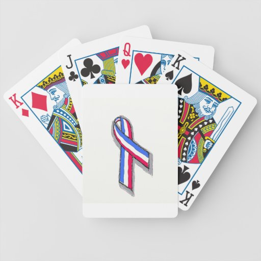Red White and Blue Ribbon. Card Deck