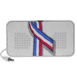 Red White and Blue Ribbon. Travelling Speaker