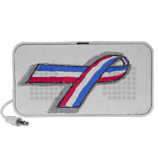 Red, White and Blue Ribbon Portable Speaker