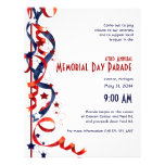 Red White and Blue Ribbons and Stars Flyer