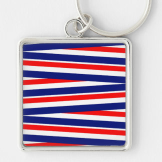Red, White and Blue Ribbons Keychain