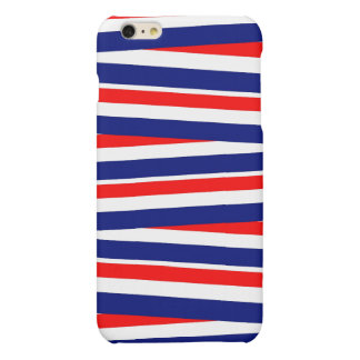 Red, White and Blue Ribbons Matte iPhone 6 Plus Case