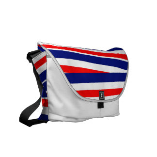 Red, White and Blue Ribbons Messenger Bag