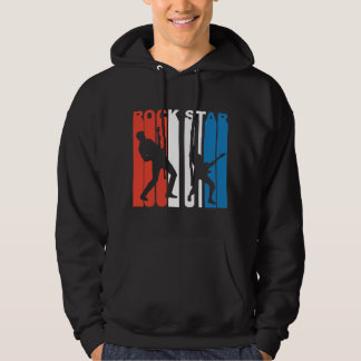 Red White And Blue Rock Star Hoodie