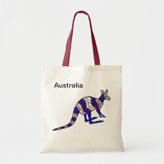 Red White and Blue Roo Tote Bags