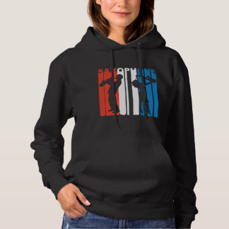 Red White And Blue Saxophone Hoodie