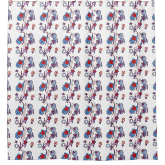 Blue Curtains blue curtains with white stars : Red Star Shower Curtains | Zazzle