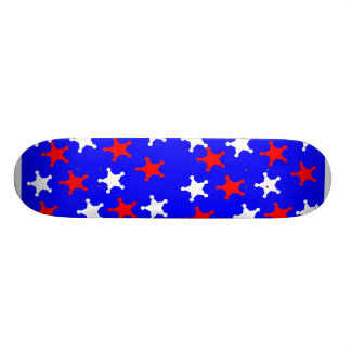 Red, White and Blue Skateboard Deck