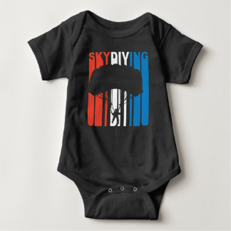 Red White And Blue Skydiving Baby Bodysuit