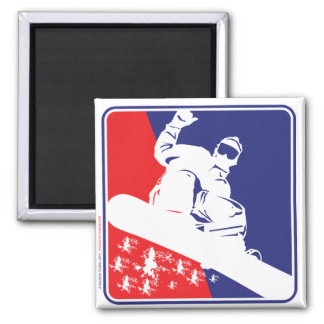 Red-White-and-Blue-Snow-Boa 2 Inch Square Magnet