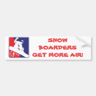 Red-White-and-Blue-Snow-Boa Car Bumper Sticker