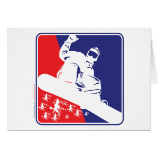 Red-White-and-Blue-Snow-Boa Greeting Card