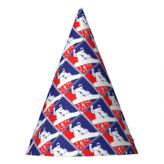 Red-White-and-Blue-Snow-Boa Party Hat