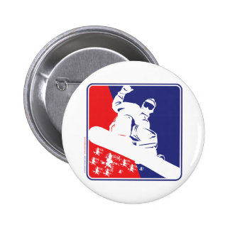 Red-White-and-Blue-Snow-Boa Pinback Button