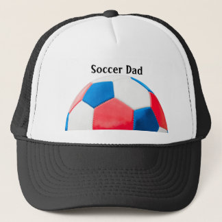 Red White and Blue Soccer Trucker Hat