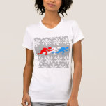 Red, white and blue speed skaters t-shirts