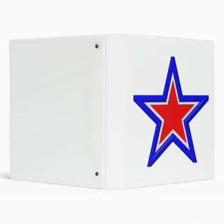 Red, white and blue stacked stars binder