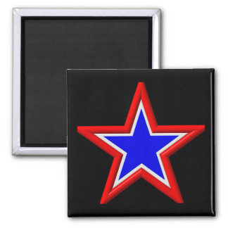 Red, white and blue stacked stars magnet