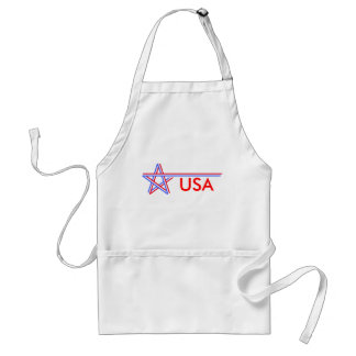 Red White and Blue Star Adult Apron