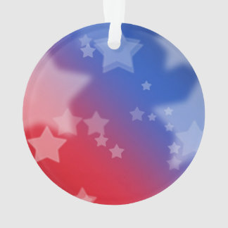 Red White and Blue Star Background