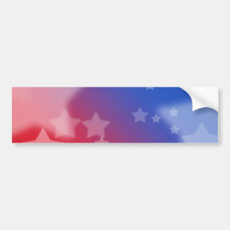 Red White and Blue Star Background Bumper Sticker