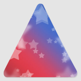 Red White and Blue Star Background Triangle Sticker