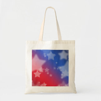 Red White and Blue Star Background Tote Bag