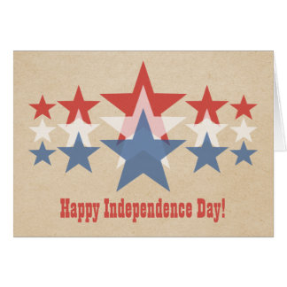 Red, White and Blue Star Cascade July 4th Greeting Card