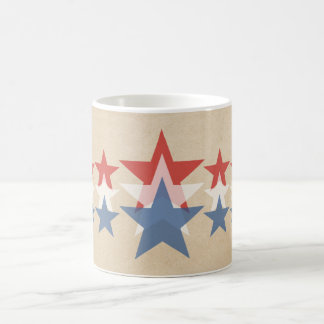 Red, White and Blue Star Cascade Mug