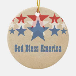 Red White and Blue Star Cascade Ornament