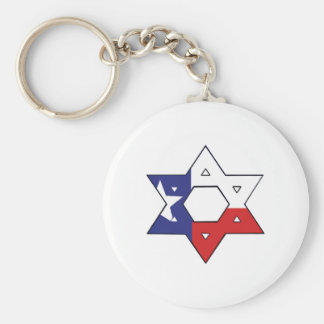 Red White and Blue Star Keychain