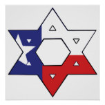 Red White and Blue Star Posters