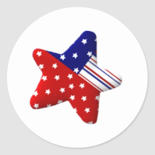 Red White and Blue Star Sticker | Zazzle