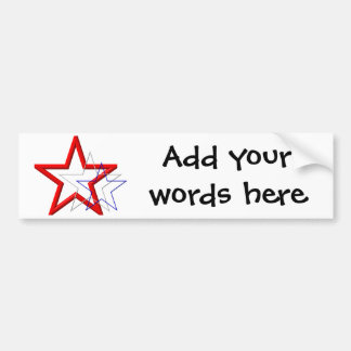 Red, white and blue star trails bumper sticker