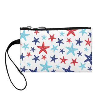 Red, White and Blue Starfish wristlet
