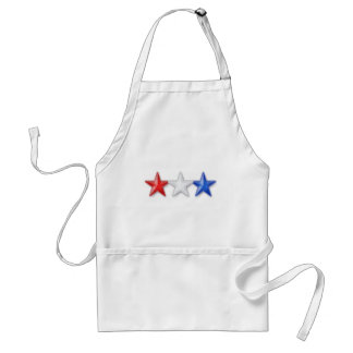 Red, White and Blue Stars Adult Apron