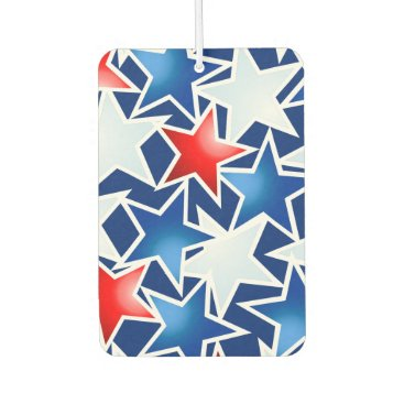 USA Themed Red white and blue stars air freshener