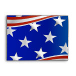 Red White and Blue Stars and Stripes Envelope