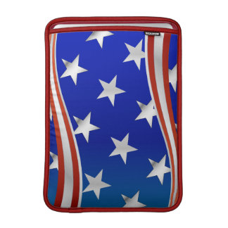 Red White and Blue Stars and Stripes MacBook Air Sleeve