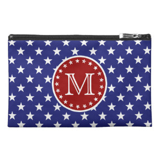 Red White and Blue Stars and Stripes Monogram Travel Accessories Bags
