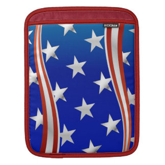 Red White and Blue Stars and Stripes Sleeve For iPads