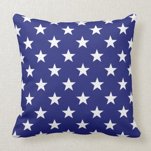 Red White And Blue Stars and Stripes Throw Pillow Zazzle